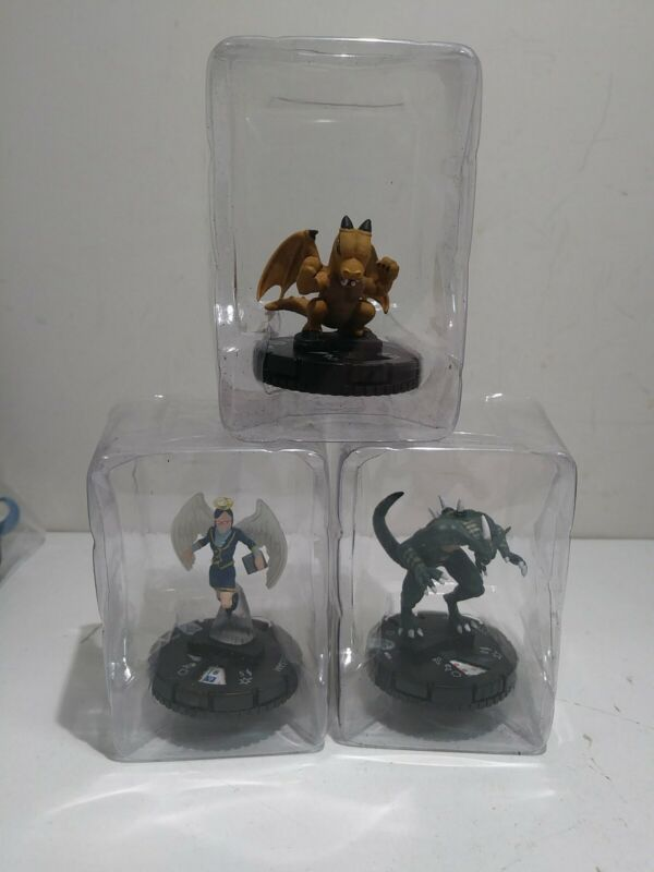 Lot Of 3 Heroclix: Baby Dragon #003 Hysteric Fairy #008 Des Feral Imp #004