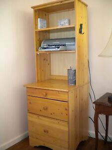 Solid pine 6 piece shelves and drawers