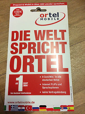 German Eplus Ortel Sim Card With 10 00 Euro Creditf To Sell