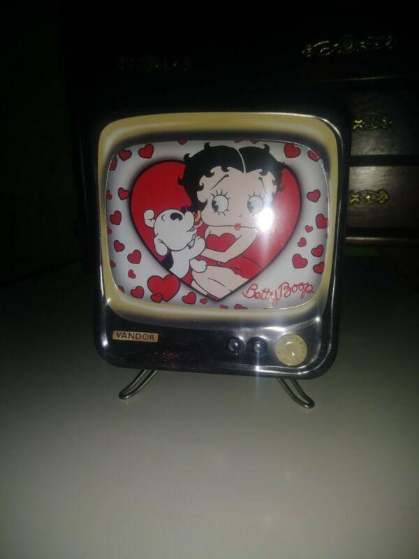 """Betty Boop TV Tin Box Piggy Bank 2000 Vandor Collectible Tins """"Boop Oop A Doop!"""""""