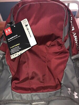 Under Armour Hustle 3.0 Backpack  W Laptop Sleeve Color Cardinal Red/ Graphite
