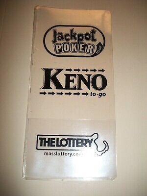 JACKPOT POKER MA LOTTERY TICKET HOLDER SLEEVE PROTECTOR ENVELOPE KENO NEW - Lottery Ticket Holder