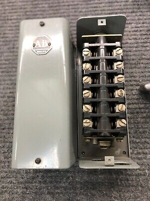 Allen Bradley Reversing Drum Rotary Switch 806-a62 Series A 6 Pole Double Throw
