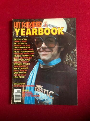 "1976, Elton John, ""HIT PARADER"" Magazine (No Label) Scarce / Vintage"