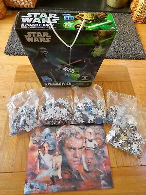 Star Wars Super 3D 6 Puzzle Pack. 5 puzzles unopened