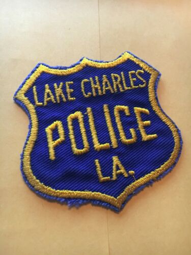 Vintage Rare Lake Charles Louisiana Police Patch Cheese Cloth back