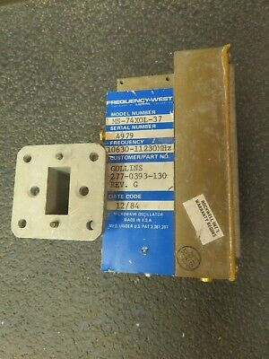 Frequency West Microwave Oscillator 10630-11230 Mhz Range Model Ms-74xol-37