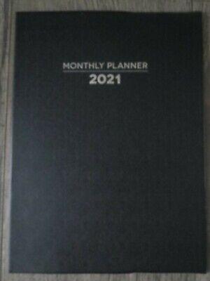 2021 Black Monthly Planner Organizer Agenda Appointment Book Calendar 7.5 X 10