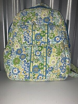 Vera Bradley Floral Backpack Green And Blue