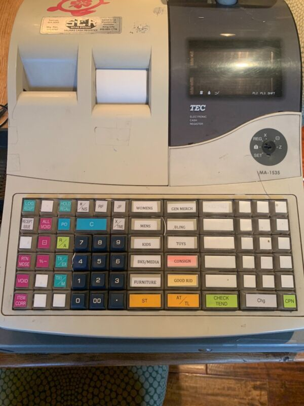 Toshiba TEC MA-1535-2 ELECTRONIC CASH REGISTER - used in my store