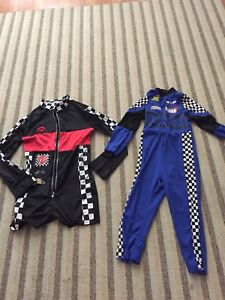 Ladies and toddlers racing costumes