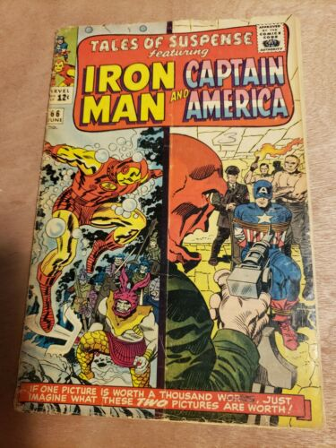 TALES of SUSPENSE #66 - Iron Man/Captain America - Origin Red Skull Lower Grade