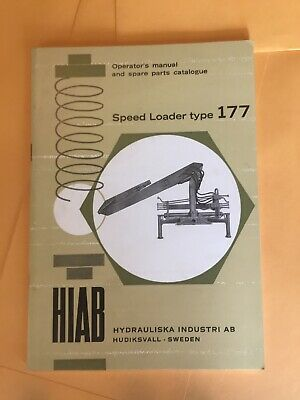 Hiab 177 Speed Loader Crane Operators Parts Manual Book Lift Elephant