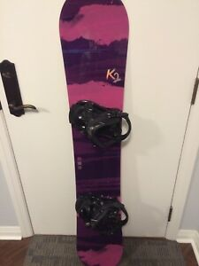 Women's K2 50inch board with bindings and Burton size 8 boots