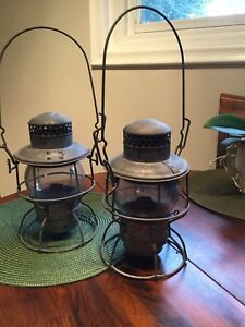 Antique Hiram L. Piper CNR railway lamp