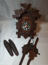 Cuckoo Clock Mid-Century Style Great Reproduction of Antique German Version