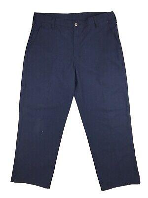 Workrite Fr Mens 36x28 Fire Resistant Nomex Iiia Aramid Blue Work Uniform Pant