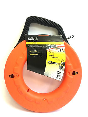 Authentic Klein Tools 50 Feet Spiral Steel Fish Tape 56013