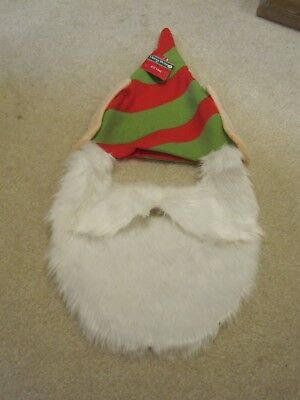 Elf hat with ears and beard green Christmas holiday funny gag gift new with tags](Elf Ears And Hat)