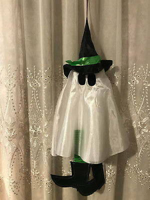 Multicolored Hanging Witch Ghost Props Halloween Party Home Office Yard Decor - Halloween Decorations Office