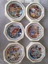 6 Royal Doulton Fine China Collectable Plates Franklin Mint Brighton East Bayside Area Preview