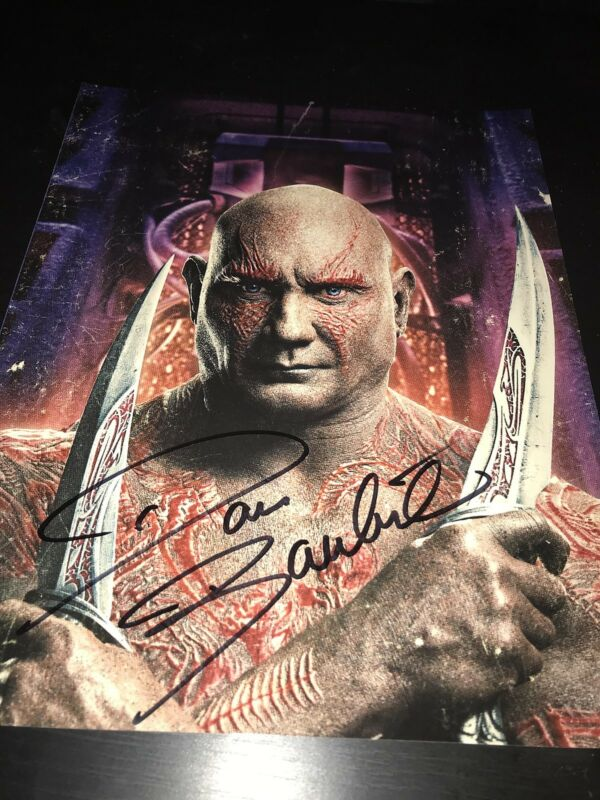 DAVE BAUTISTA SIGNED AUTOGRAPH 11x14 PHOTO GUARDIANS OF THE GALAXY MARVEL COA D
