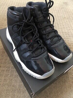 Nike Kid's Air Jordan 11 Black/White Sz 5y 378038-002 Basketball Shoes