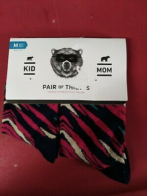 Pair of Thieves Twinsies Sock Set Mom & Kid Size Woman 6-10 Child Medium