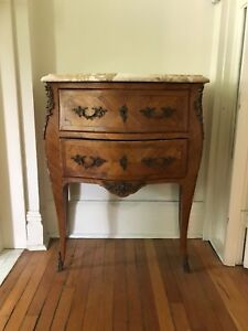 Antique Louis XV Marble Top End Table