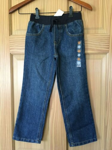 NWT Gymboree Boys Blue Pull on Ribbed Waist Straight Jeans Outlet Many sizes