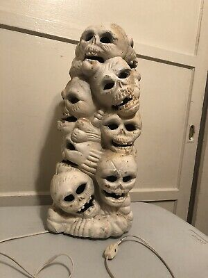 Vintage white skeleton foam blow mold
