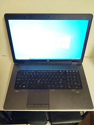 HP ZBook 17 i7-4700MQ 2.4Ghz 8GB/128gb SSD/500gb HD WIN10 Clean Install