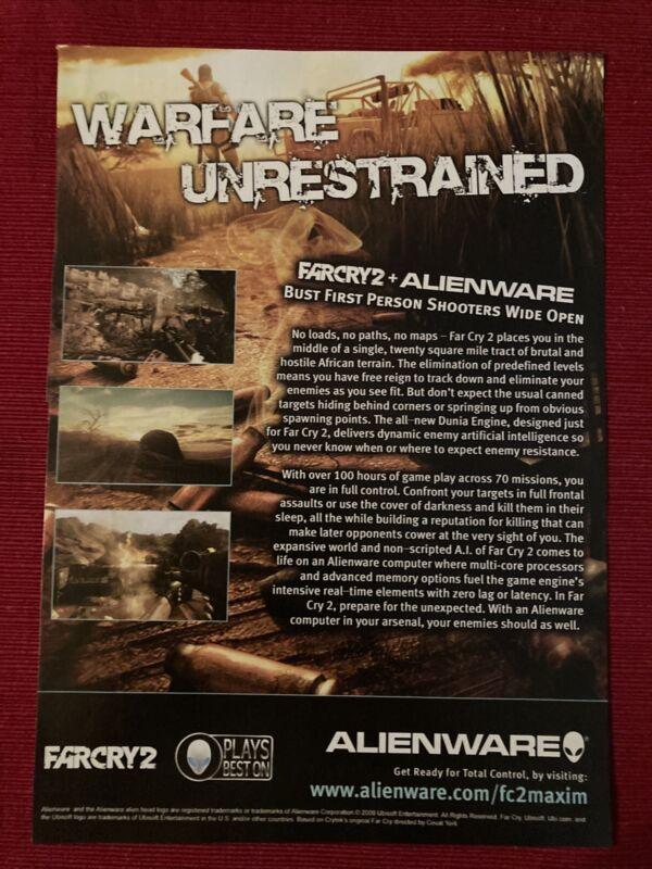 Farcry 2 Alienware 2008 Ad/Poster Promo Art Ad