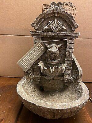 Vintage 1995 Rare Vandor Gargoyle Heavy Table Fountain W/ Pump Mystical