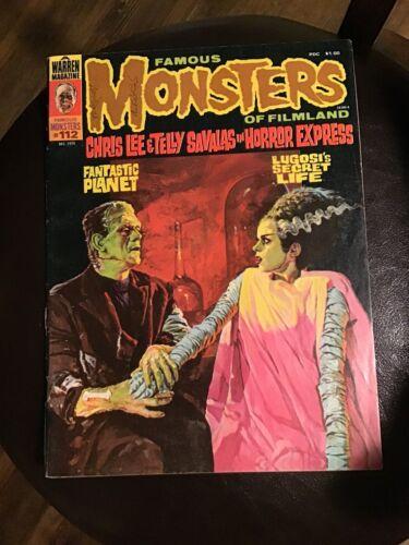 Famous Monsters Of Filmland 112 1974 Warren Magazine - $0.99