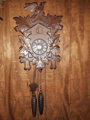 Vintage German Cookoo Clock Wood Carved- For Parts or Repair