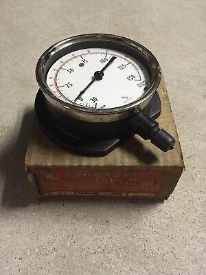 New 4 12 Ashcroft Duragauge Steampunk Pressure Gauge Alumalife 0 To 150 1162