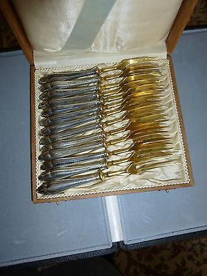 12 alte Fleischgabeln 800 Silber Jugendstil ca. 1900/20 Hanau a. Nachlass v. Oma
