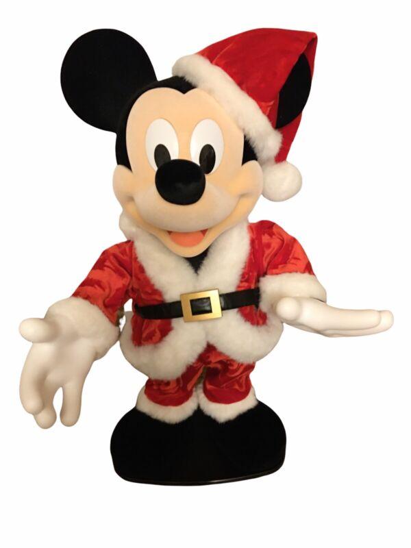 "Disney Rockin Around Animated Dancing Santa Mickey Mouse 20"""