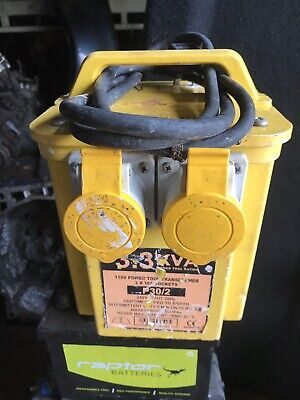 110V TRANSFORMER 3.3 KVA Twin Outlet