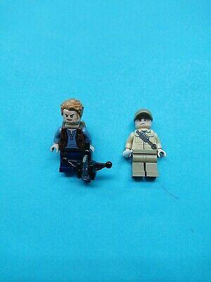 Lego Jurassic World Lot 2 Minifigures Ken Wheatley Owen Grady, Backpack 75928!