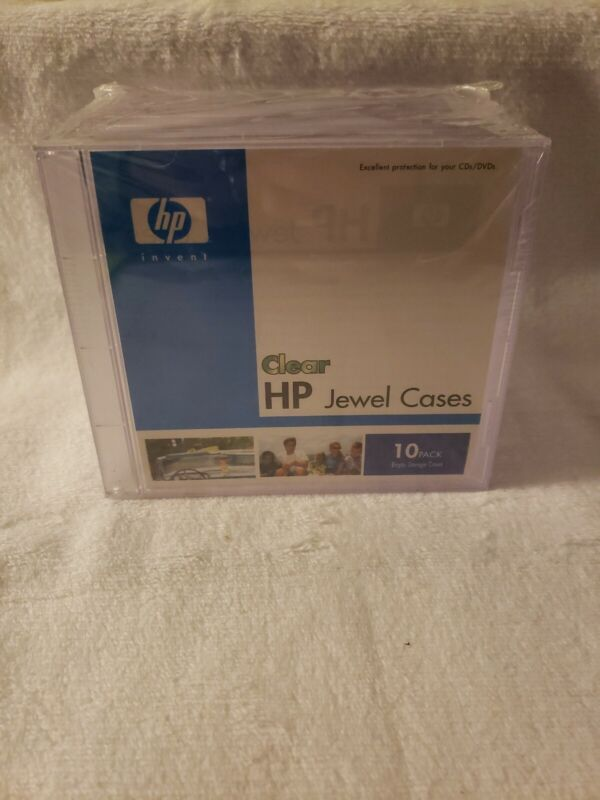 HP Jewel Cases Clear CD Storage Cases 10 Pack New Sealed