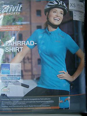 Damen Fahrrad Shirt * XS 32/34 * 3  Rückentaschen * Crivit Sports * Neu * OVP