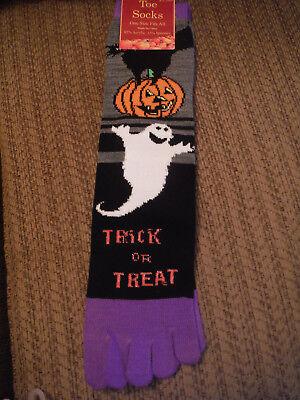 NWT Halloween Toe Socks - Trick or Treat - 85% Acrylic, 15% Spandex