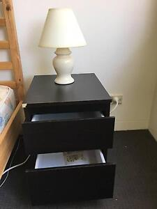 Two night bedside chest of drawers - BLACK! Mosman Mosman Area Preview
