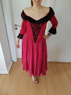 eid Theater Kostüm 38/40 dunkelrot mit Spitze (Kostüme Mit Roten Kleid)