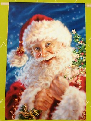 29x43 Winter Merry Christmas Santa Clause St. Nick Traditions Large FLAG