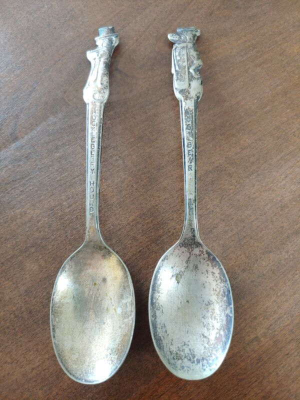 Vintage Yogi Bear Huckleberry Hound Spoon set Old Company Plate SILVER