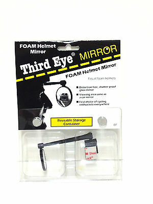 THIRD EYE FOAM HELMET MIRROR BIKE BICYCLE RIDING BLACK 3RD NEW