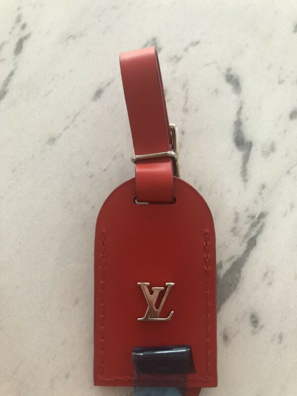 Louis Vuitton Luggage Tag Small Red
